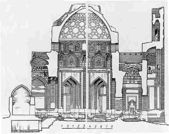 Cross-section of mausoleum