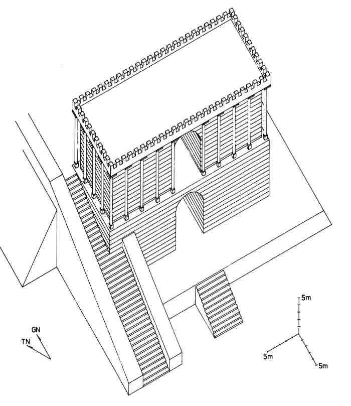 Reconstruction of the central mausoleum