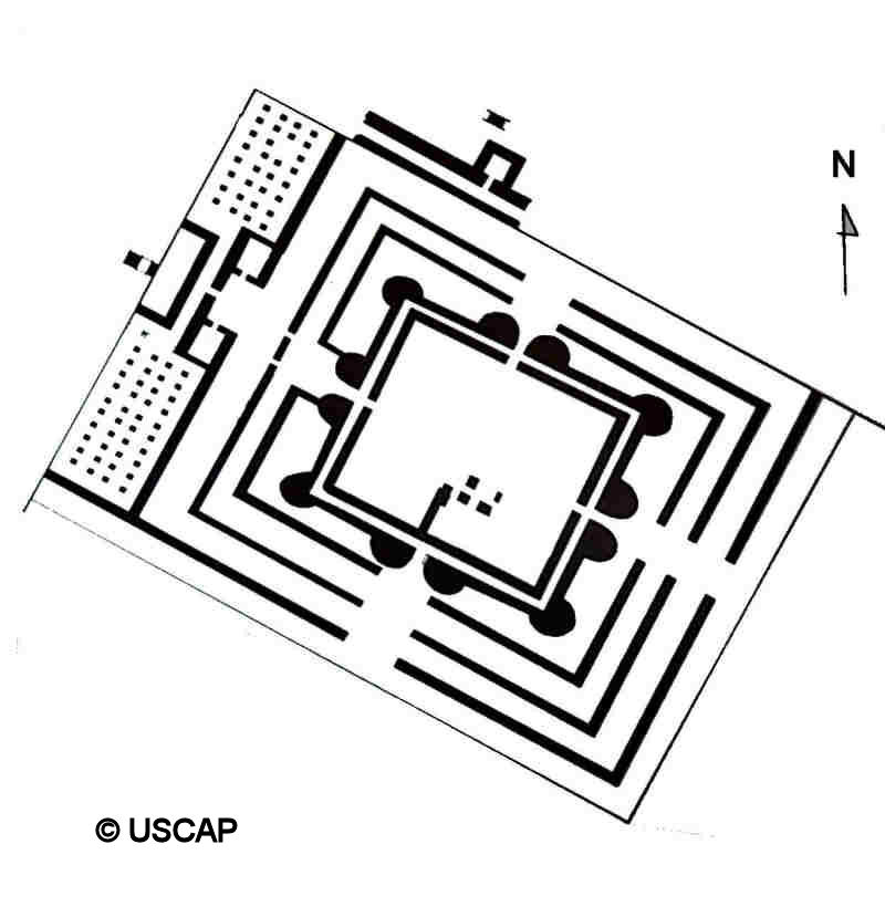 Possible plan of the temple-palace