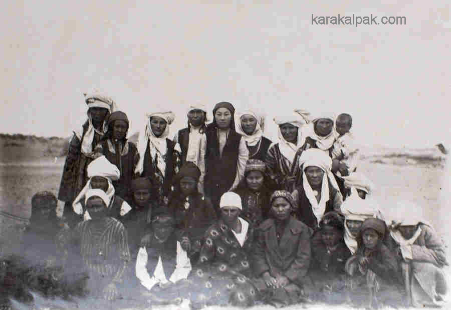 Karakalpak women and children