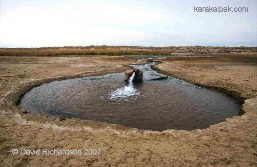 Soviet artesian well in the Qizil Qum