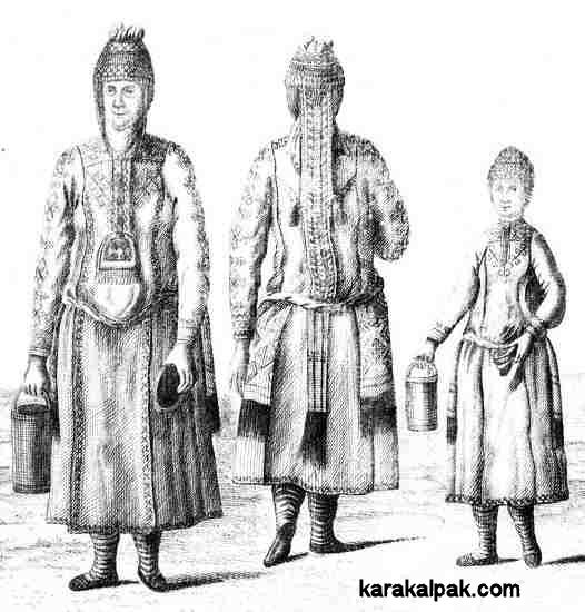 Chuvash woman with kushpu headdresses