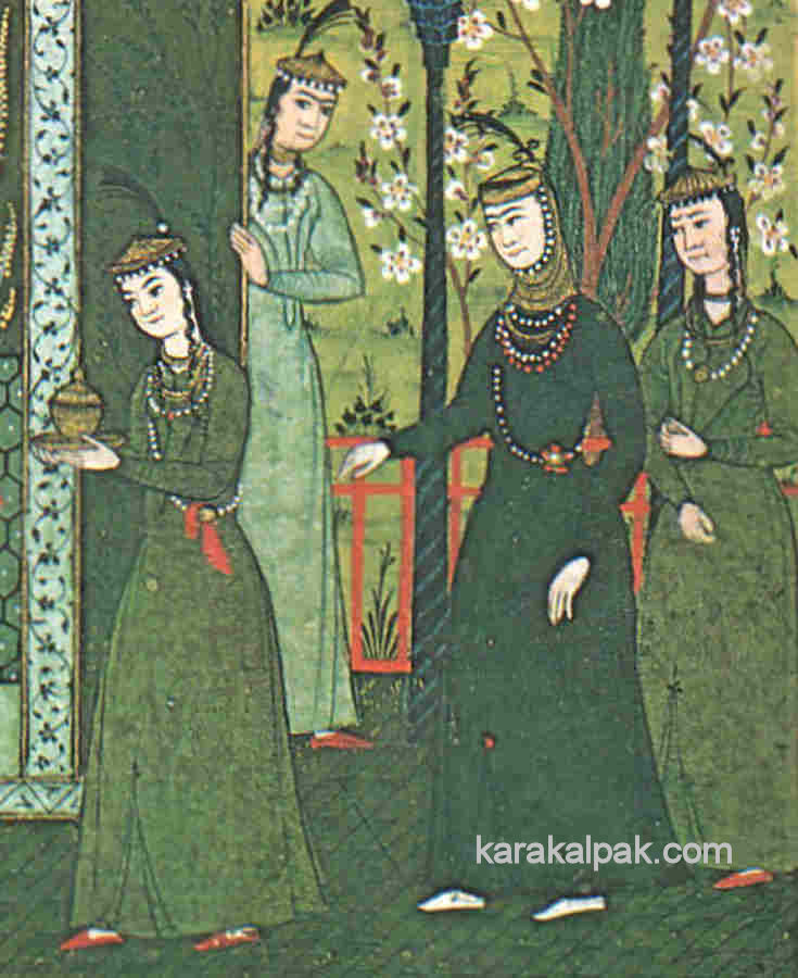 Uzbek women with taxya