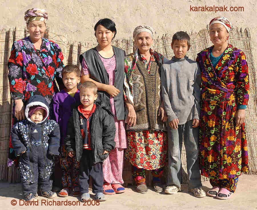 Friendly Karakalpak women