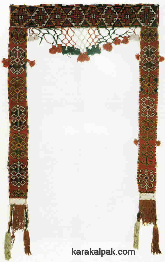 Uzbek yurt door decoration